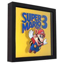 "Super Mario Bros. 3 (Cover Art) - 3D Shadow Box Frame (9"" x 9"")"