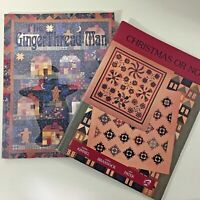 Lot of 2 quilt pattern books Christmas Or Not & The GingerThread Man excellent