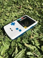 Nintendo GameBoy Color - Refurbished Colour Game Boy GBC Clear Blue Pokemon Cust
