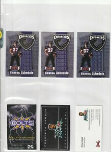(24) DIFFERENT 2001 XFL FOOTBALL LEAGUE SEASONS SCHEDULES  WOW  RARE  LOOK
