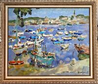 "Alfred Chagniot Well Listed French ""Benodet"" 24x29"" Original Oil Painting"
