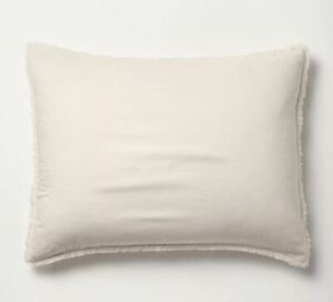 CASALUNA Heavyweight Linen Blend Pillow Sham, King, Natural