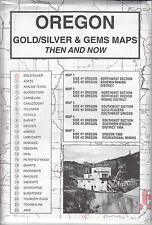 Gold Gem Maps Mining Geology Mining Districts Oregon