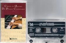 K7 AUDIO / TAPE--CHEFS D'OEUVRE DU PIANO--POLONAISE/VALSE/DANS LES BOIS/