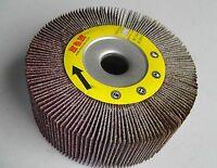 "2pcs 4-inch Flap Wheels 4"" x 1"" x 5/8"" 120 Grit Bench & Pedestal Grinder"