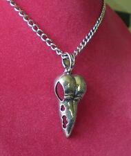 Raven Skull Necklace Metal Bird Skull Crow Bellatrix Potter Goth Beak Death