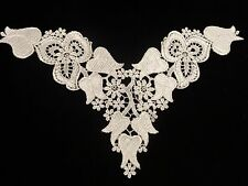 "Venise Lace Front Yoke - Tulip Design - 12 1/2"" x 7 1/2"" - Lot of 6 for $15.99"