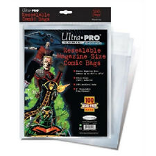 100 Ultra Pro Magazine Resealable Storage Bags   Brand New Factory Sealed