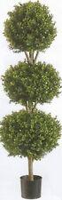 "56"" ARTIFICIAL BOXWOOD 4' 8"" OUTDOOR UV TOPIARY TREE 3 BALL BUSH PATIO 5 6 POOL"