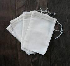 100 (3x5) Cotton Muslin Drawstring Bags Bath Soap Herbs