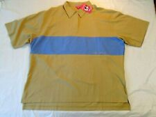 Fuller Fillies Women's equestrian polo short sleeve tan blue 2XL/24 new with tag