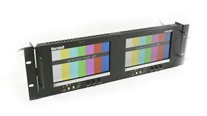 Marshall V-R72P-2HDSDI Rack Mount Twin 7 inch LCD Monitors w/ Power Supply