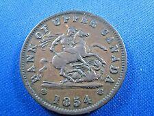 BANK OF UPPER CANADA 1854 ONE PENNY BANK TOKEN   (sk12)