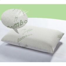 New King Size Comfort BambooMemory Foam Pillow Hypoallergenic Stays Softer White