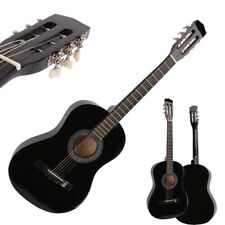"New Beginner Willow 38"" Plywood 19 frets Acoustic Guitar Black for Music Lover"