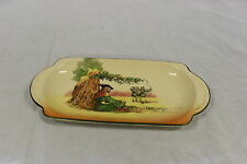 Vintage Royal Doulton Under the Greenwood Tree Sandwich/Cake Plate 1918/6094