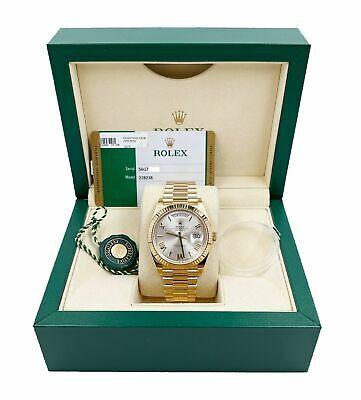 Reloj Rolex President Día Fecha 40mm 228238 18K Oro Amarillo Caja de papel 2019