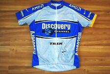 NIKE DISCOVERY CHANNEL CYCLING JERSEY TOP SHIRT BLUE TRIKOT MAGLIA FULL ZIP XL
