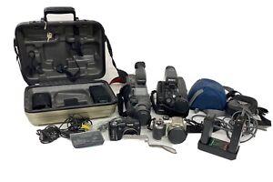 camera camcorder Mixed lot Untested