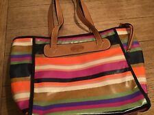 Fossil Striped Oil Cloth Bag