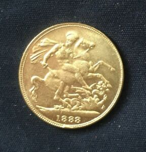 Super *1888* Victoria Sovereign / British Coins - Gold Plated / Jack The Ripper