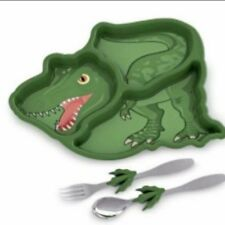 Dinosaur Divided Plate With Fork/spoon