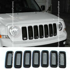 7x For Jeep Patriot 11 2017 Black Car Front Grill Grille Insert Trim Frame Cover Fits 2012 Jeep Patriot