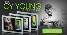 Cy Young Elemetal 1 Troy Ounce .999 Fine Silver T-206 Baseball Greats Sealed