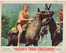 JOCK MAHONEY TARZAN'S THREE CHALLENGES  ORIGINAL 11X14 LOBBY CARD SET OF 8