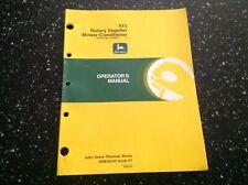John Deere 915 Rotary Impeller Mower Conditioner Operators Manual Sn 123501