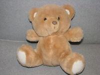 HTF Vintage Russ Berrie Brown Tan Cream Feet Plush Stuffed Teddy Bear Item 1773