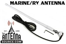 """Marine WHITE Rubber Ducky 15"""" Antenna Kit, For Your Boat, Yacht , Sailboat , RV"""