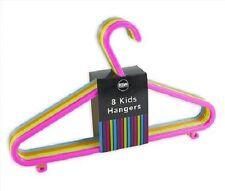 48 x Children Plastic Coat Hangers Clothes Baby Kids Trouser Laundry Multicolour