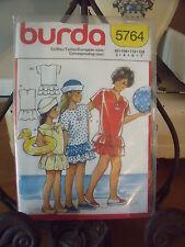 "PATRON"" BURDA ROBE DE PLAGE   TAILLE 3  A 7 ANS  N°5764"