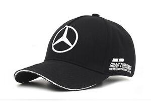 NEW Mercedes AMG F1 Team MENS Lewis Hamilton WHT Flat Brim Cap Hat OFFICIAL