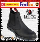 Redback Work Fire Station Mechanic Boots Black Leather Easy Escape Bobcat UBBK