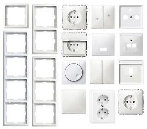 Merten artec polarweiß glänzend Steckdose Wippe Wechsel Serie Rahmen zur Auswahl