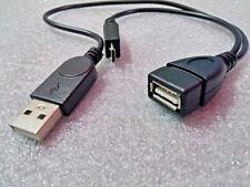 Micro USB OTG Host Adapter with USB Power for Phones and Tablets
