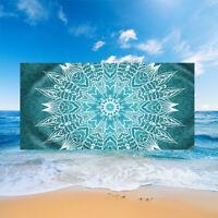 Ethnic Mandala Beach Towel Flower Geometric Surfing Spa Gym Travel Swim Bath