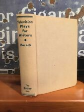 """Very Rare """"Television Plays for Writers"""" AS Burack, Gore Vidal 1957"""