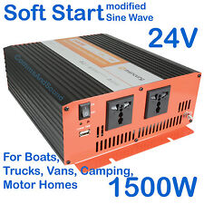 24v Inverter 240V Mains Power Converter Car Boat Truck Carvan 652.009 1500W