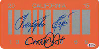 MICHAEL J FOX CHRISTOPHER LLOYD BACK TO THE FUTURE SIGNED LICENSE PLATE BAS 20