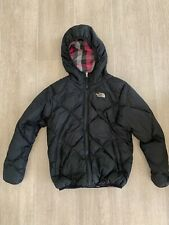 Girls Reversible The North Face 550 Down Quilted Coat Age 10-12 *See descripton
