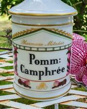 Antique French Goumot-Labesse Limoges Porcelaine Apothecary Jar-Pomm:Camphree