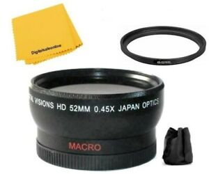 52mm 0.45x Wide angle Lens For Panasonic HC-WXF991 HC-VX981 HC-X920 W850 HC-V750