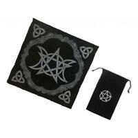 Altar Tarot Table Cloth Moon Divination Velvet Tapestry 49cm +Tarot Card Bag