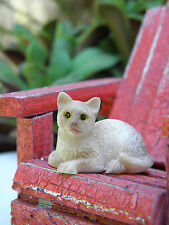 Miniature Dollhouse FAIRY GARDEN Accessories ~ Small Brown Siamese Cat ~ NEW