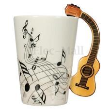 Porcelain Guitar Handle Shape Music Note Cup Coffee Tea Bottle Water Mug Gift