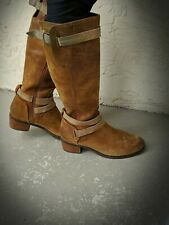 UGG Australia Darcie Brown Leather Tall Riding Buckled Boots 1004172 Size 7.5