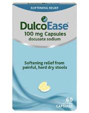 DulcoEase Stool Softener 60 Soft Gel Capsules - Larger 60 Capsule Box.